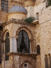 Detail Of A Window At The Church Of The Holy Sepulchre, Jerusalem, Israel, Near East