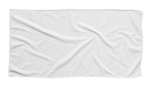 White Beach Towel Isolated Whi...