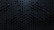 Honeycomb Mosaic With Black He...