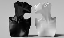 Black And White Mannequin Bust...
