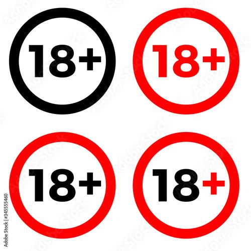 Cuadros en Lienzo Under 18 sign warning symbol