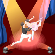 Illustration Of Couple Dancing...