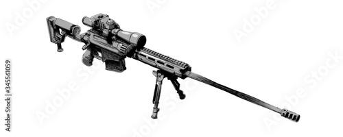 Fotografía Large-caliber, semi-automatic, anti-materiel sniper system
