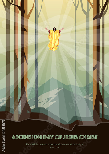 Happy Ascension Day of Jesus Christ Wallpaper Mural