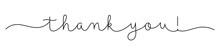 THANK YOU! Black Vector Monoli...