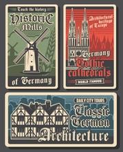 Germany Travel Retro Posters, ...