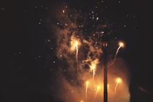 Low Angle View Of Firework Dis...