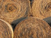Full Frame Shot Of Hay Bales