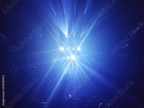 Fototapeta Disco Lights At Nightclub obraz na płótnie