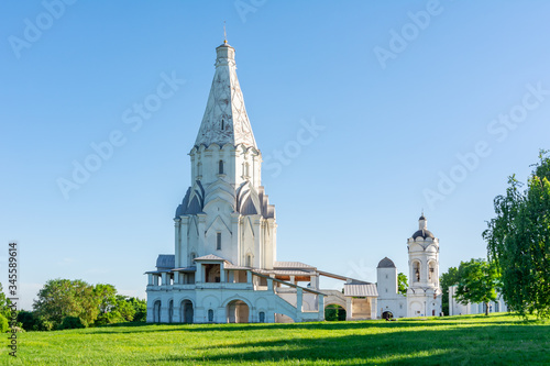 Church of the Ascension in Kolomenskoye, Moscow, Russia Canvas Print