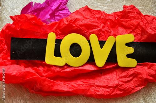 word love Fototapet