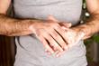 Washing hands rubbing with soap man for corona virus prevention, hygiene to stop spreading coronavirus