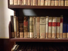 Close-up Of Old Books On Shelf...
