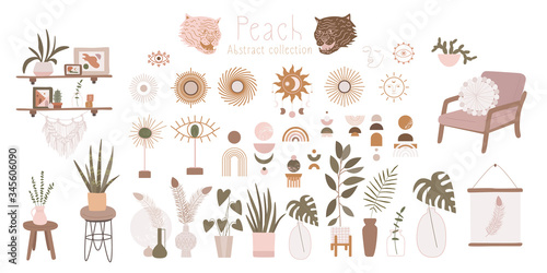 Objects for a cozy sweet home Wallpaper Mural
