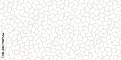 Stampa su Tela Vector seamless gray pattern with white drops