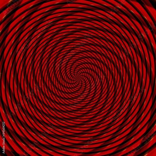 Valokuvatapetti Abstract background illusion hypnotic illustration, delusion deceptive