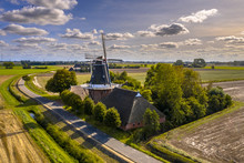Aerial View Of Dutch Countrysi...