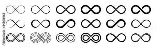 Fotografia Set of infinity icons