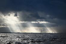 Sailing Yacht Regatta. Modern ...