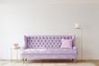 canvas print picture - Romantic living room. 3d render.