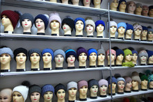 Mannequin Heads In Knitted Hat...
