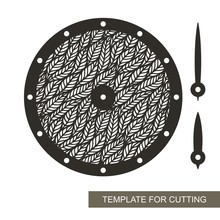 Round Wall Clock With Openwork...
