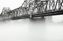 Foggy John F Kennedy Memorial Bridge Against Sky