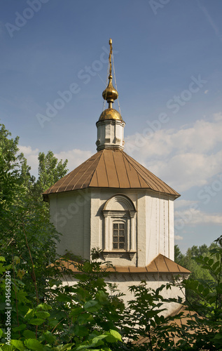Photo Ancient Assumption church of Holy Assumption (Uspensky) monastery in Lipetsk