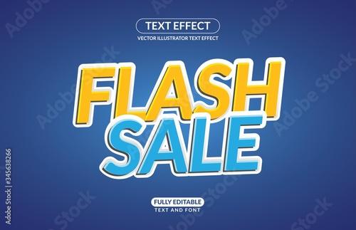 Fényképezés Editable Text Effect Flash Sale Vector Style