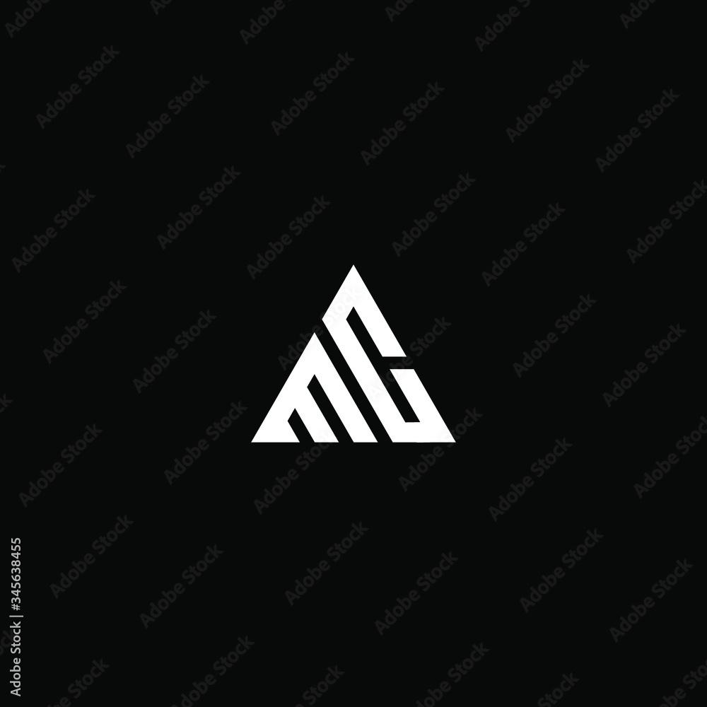 Fototapeta mc letter vector logo abstract