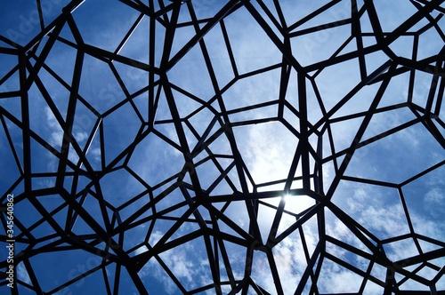 Full Frame Shot Of Metallic Structure Against Sky - fototapety na wymiar