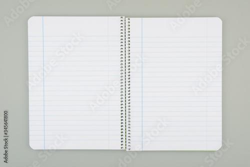 Fotomural Cuaderno abierto por la mitad con dibujo de líneas