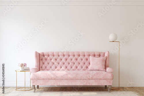 Romantic living room. 3d render. Fototapet