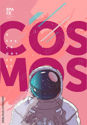 Photo Vector illustration of space and planets
