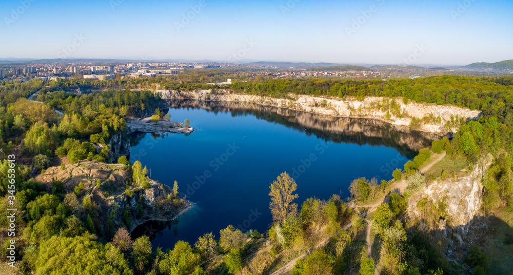 Zakrzowek lake in Krakow, Poland