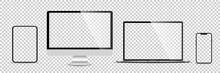 Realistic Set Of Monitor, Lapt...