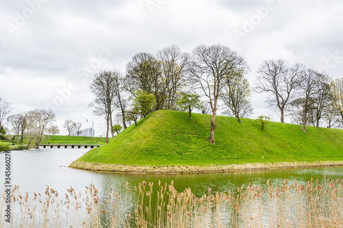 The citadel in Copenhagen, normally referred to as Kastellet, is a well-preserved, star-shaped fortress that was built in the 17th century to guard the approach to the harbour Wallpaper Mural
