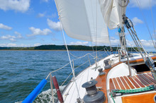 Sailing On A Starboard Tack In...