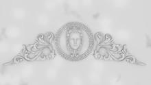 Ornate Female Face 3D (4d Cinema) In Carrara Marble