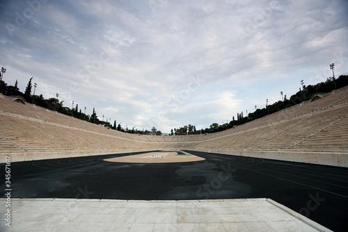 Photo Sports arena in Greece. Closed season 2020.
