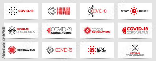 Collection of virus contemporary flyers, covers, templates, posters, cards Canvas-taulu