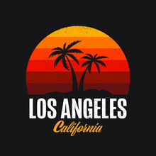 Los Angeles California Logo Design Apparel T-shirt Vector Illustration