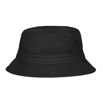 Black Bucket Hat On White Back...