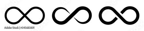 Valokuvatapetti Set of infinity icons