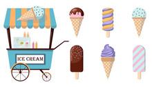 Set Of Ice-cream Icons And Ice...