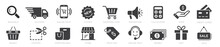 Online Shopping Icons Set, Pay...
