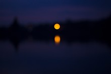 Moon Reflecting On River Again...