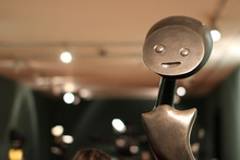 Close-up Of Metal With Anthropomorphic Face At Night