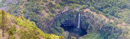 Photo Waterfall Grand Bassin - view from Bois-Court at island La Reunion