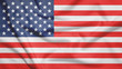 United States flag with fabric texture